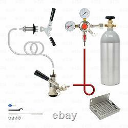 1 Tap Domestic Keg Beer Kegerator Conversion Kit Sankey D 5lb Aluminum Co2 Tank