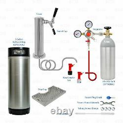 1 Tap Single Tower Ball or Pin Lock Home Brew Kegerator Keezer Conversion Kit