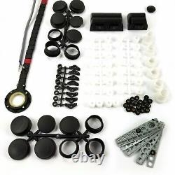 1961-72 Lincoln 2-Door Curved Glass Power Window Kit Manual Crank Conversion 12