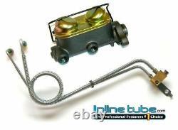 1966 A Body Manual Drum Brake Dual Master Cylinder Conversion Kit Set W Tubes