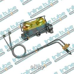 1966 GM A-Body Manual Drum Brake Dual Master Cylinder Conversion Kit with Lines