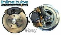 62-67 Nova Chevy II Front Disc Brake Conversion Wheel Kit Set Caliper Rotor
