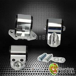 Billet 3-Bolt Motor Mounts Conversion Swap Kit For Civic 92-95 EG B16 B18 B20