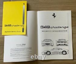 Ferrari 348 Challenge Manuals, Conversion Kit for race series (833/94) Original