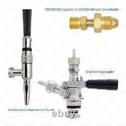 Guinness Nitrogen U Keg Stout Conversion Adapter Kit for CO2 Regulator Kegerator