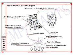 Hitachi Conversion Kit for EX120-3 Excavator with English Installation Manual