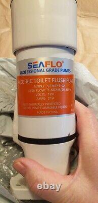 SEAFLO Toilet Conversion Kit Converts Manual Toilet to Electric -Plastic (White)