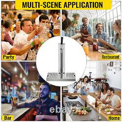 VEVOR 1 Tap Single Chrome Tower Draft Beer Kegerator Keezer Conversion Kit
