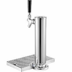 VEVOR Kegerator Tower Kit Beer Conversion Kit Single Faucet Keg Tower One Tap